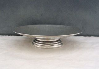 Rare Hukin & Heath Silver Art Deco Footed Dish/tazza Birmingham 1944 photo