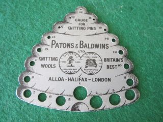 Old Needle Gauge Very Rare Patons & Baldwins photo