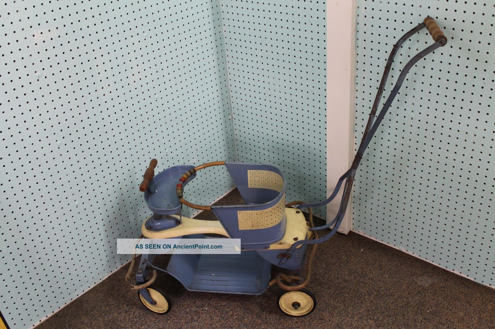 Vintage Mid Century 1950 ' S Taylor Tot Baby Stroller Blue Baby Carriages & Buggies photo