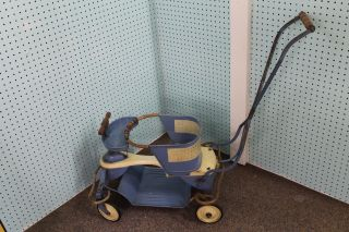 Vintage Mid Century 1950 ' S Taylor Tot Baby Stroller Blue photo