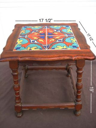 Antique Catlina Style Mission Tile Top Table - Taylor? photo
