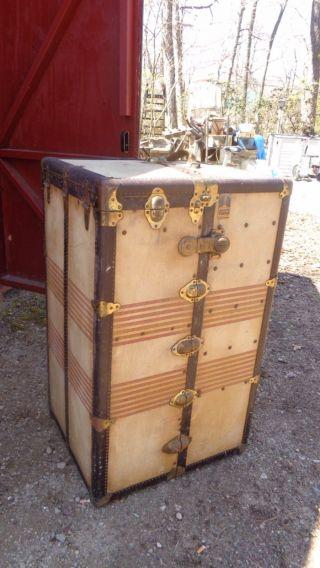 Antique Oshkosh Steamer Trunk