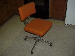 Vintage Goodform Emeco Industrial Orange Office/desk Chair Aluminum Eames Modern photo