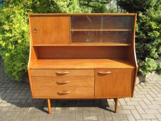 Mid - Modern Teak,  Danish 1960 ' S Teak Credenza,  Sideboard,  Highboard (b) photo