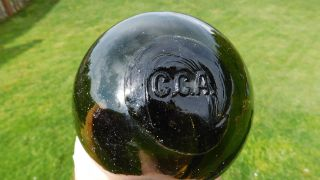 Vintage Glass Float Marked C.  C.  A. photo