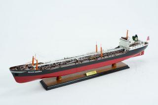 Texaco Bogota Oil Tanker Ship Model - Handmade Wooden Ship Model photo