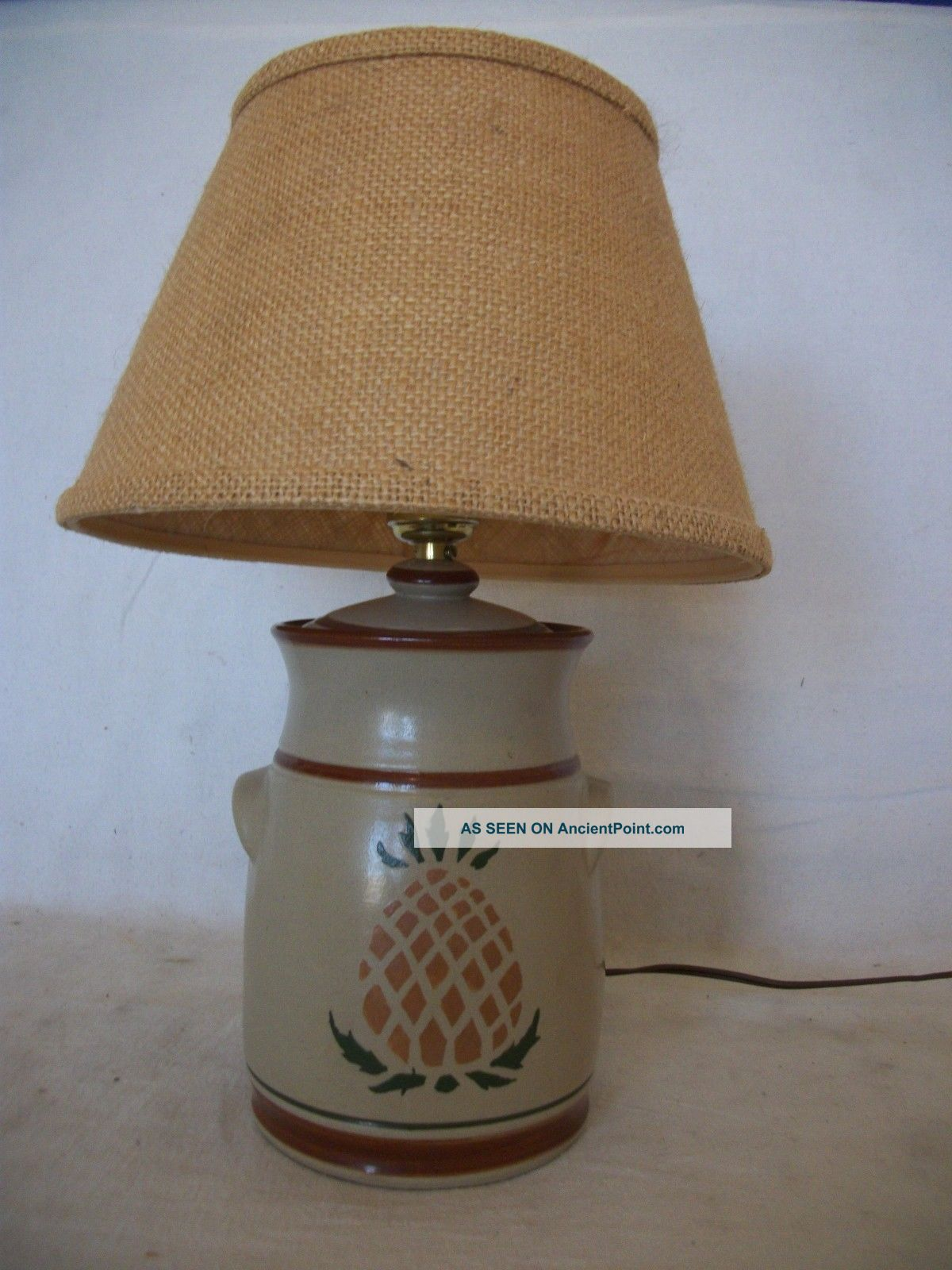 Small Stoneware Table Lamp With Pineapple Design Hearth Ware photo
