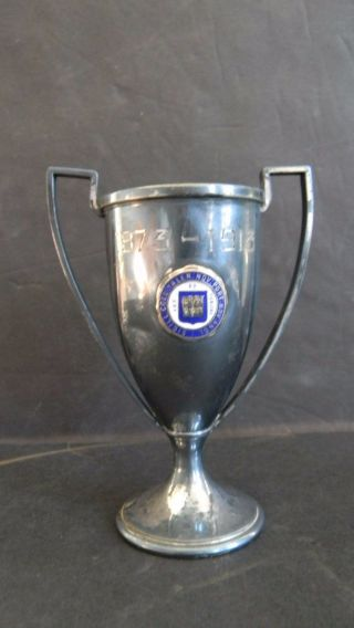 1913 - Antique Yale University Silver Plated Trophy Cup photo
