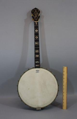 Antique Early 20thc Orpheum No.  1,  4 - String Tenor Jazz Banjo,  Nr photo