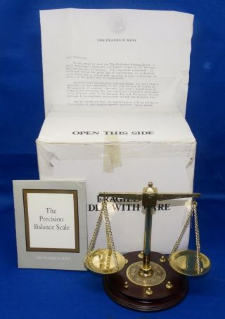 1987 Franklin Maritime Precision Balance Scale With & Box photo