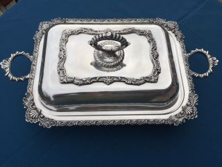 Rand Silverplate Covered Serving Dish - 17
