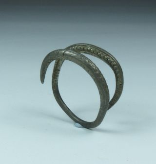 Ancient Greek Silver Snake Ring 4th Bc photo