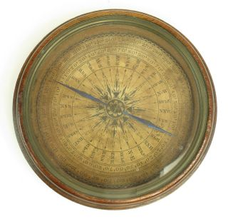 Large Antique Georgian Magnetic Compass Circa 1800,  Attractive,  Perfectly photo