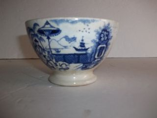 Antique Petrus Regout Pajong Holland Bowl Flow Blue Oriental Willow Type Scene photo
