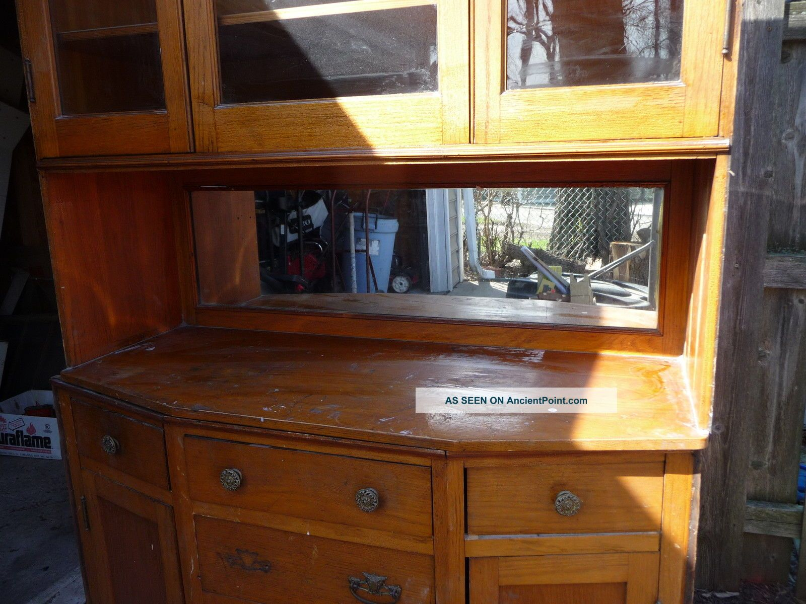 In Cabinet Glass Mirror Wood Wooden Chest Buffet Old 1900 1950 Photo 1. Full resolution  picture, nominally Width 1600 Height 1200 pixels, picture with #B98E12.