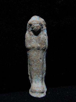 Zurqieh - Ancient Egypt,  3rd Intermediate Period,  Terracotta Ushabti,  1070 - 712 photo