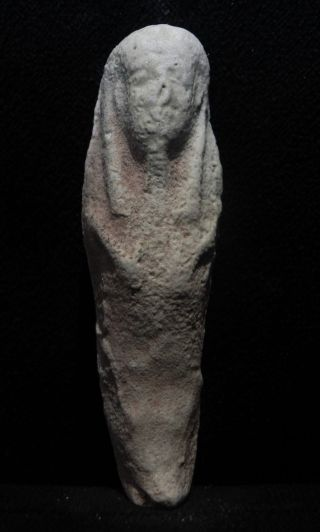 Zurqieh - Ancient Egypt.  Ancient Ushabti,  600 - 300 B.  C photo