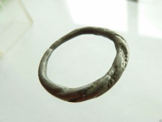 Twisted Wire Scandinavian Viking Bronze Ring (401) photo