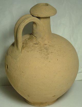 Rare Ancient Roman Ceramic Clay Vase Jug Vessel Pottery Artifact 3 Cent. photo