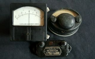 Antique Thomson Ammeter Ampere Meter General Electric Steampunk photo