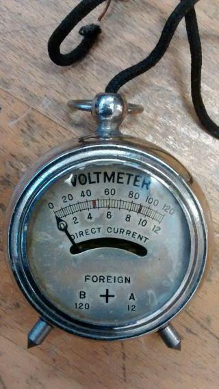Vintage Volt Meter Gauge - Steampunk Retro Antique Cool Electricity Decorative photo
