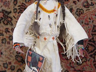 Vintage 1920 ' S Native American Indian Sioux Doll Large 22