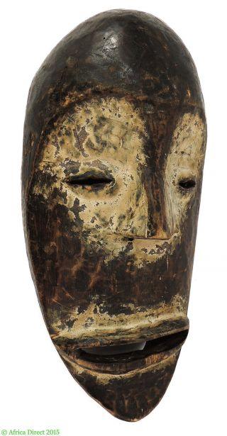 Lega Mask Bwami Society White Face Congo African Art photo
