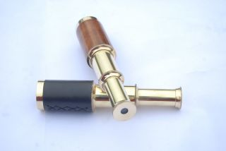 Vintage Nautical Telescope Brass Pirate Spyglass Scope Collectible Marine Scope photo