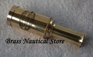Antique Brass Monocular Scope Brass Telescope Nautical Functional Antique Gift photo
