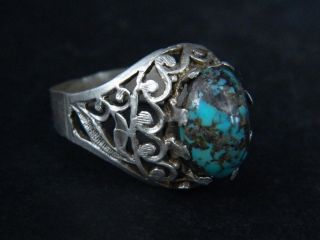 Antique Silver Ring With Stone 1900 Ad Stc120 photo