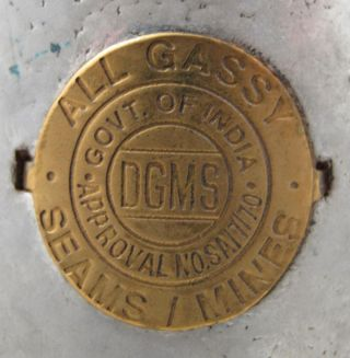 Dgms All Gassy Miners Flame Safety Lamp Brass Hanging Lantern J.  K.  Dey & Sons photo