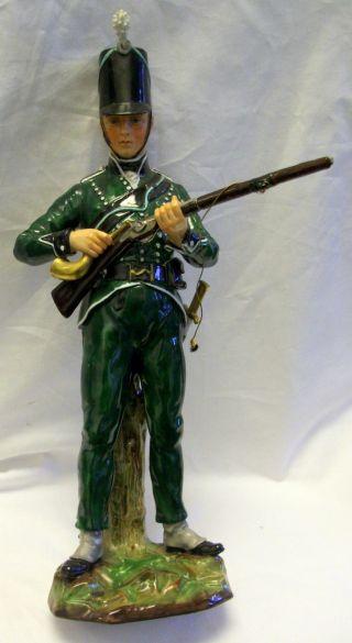 Fabulous Dresden Sitzendorf 95th Rifleman Private 1815 Porcelain Figurine photo