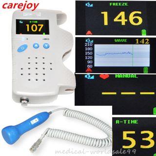 Fetal Doppler 3mhz Color Lcd Back Light&heart Beat Waveform Prenatal Monitor photo