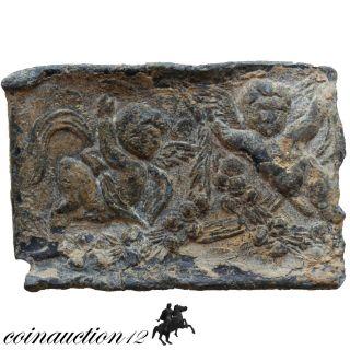 Scarce Silver Gold Plated Greek Plaque Erotas & Erotas Pegasus 750 - 500 Bc photo