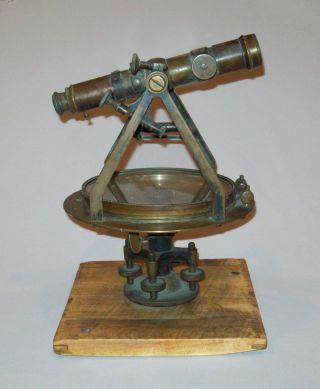 Scarce Antique Vtg Ca 1907 L.  Beckmann Brass Surveyor ' S Transit photo