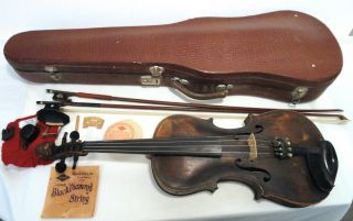 Antique 1721 Jacob Stainer (1619 – 1683) 4/4 Violin Lions Head Luthier photo