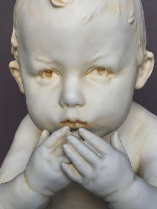 Gorgeous Lg Rare Antique German Bisque Heubach Piano Baby Doll Figurine Figure photo