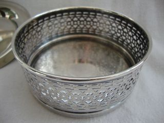 A Strachan Silver Plated Table Wine Bottle Coaster & M&r Silver Plate Nut Dish photo