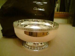 Christofle Malmaison Silver Alloy Vase Bowl Paris photo