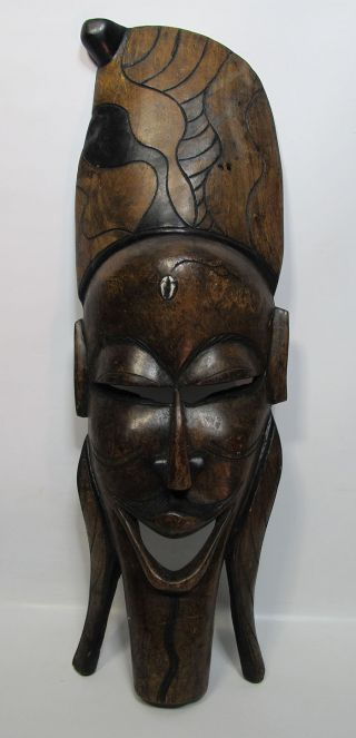 Antique African Tribal Art Marka Tribe Hand Carved Wooden Ceremonial Mask Yqz photo