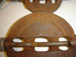 2 Old Rusty Dampers Griswold 3
