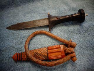 Antique Sudanese Sudan Arm Dagger W.  Scabbard photo
