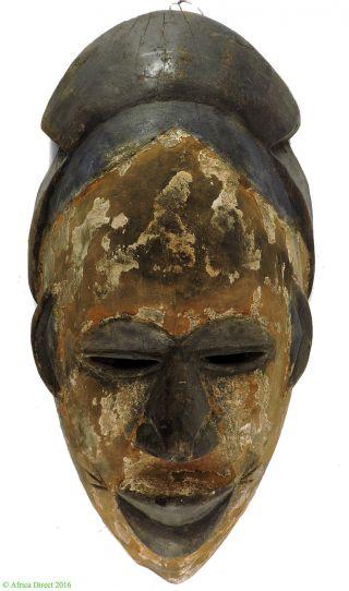 Igbo Or Ibibo Mask White Pigment Nigeria Africa photo