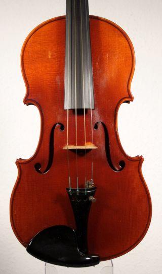 German Violin By W.  Ed.  Voigt Jr.  Markneukirchen 1938 photo