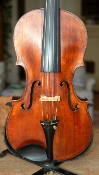 Old Antique Handmade 4/4 Master Violin - Conservatory Violin - 150 Years Old photo