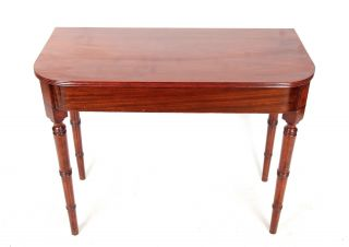 Antique Victorian Mahogany Hall Table D Shape Console Table Fine Quality English photo