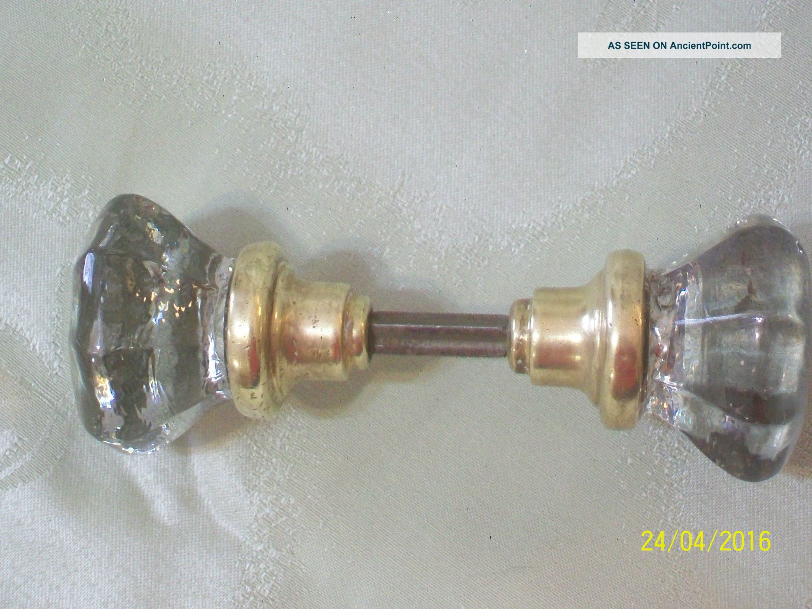 Vintage 8 pt glass amp brass door knobs amp spindle door knobs amp handles