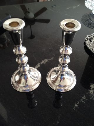 Sterling Silver Candlesticks photo