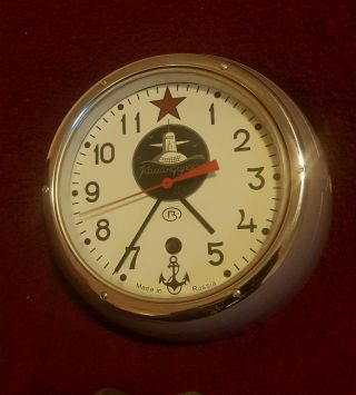 Submarine Soviet Ussr Russian Navy Marine Clock Komandirskie Vostok Ship ' S Clock photo