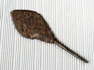 Antique Ancient Medieval Roman Artifact - Iron Arrowhead 01 photo